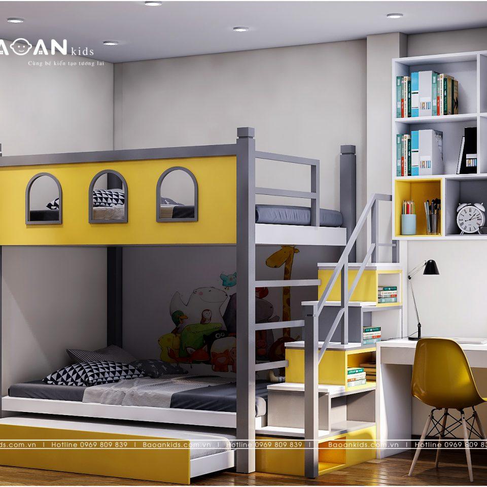 giường tầng đơn giản dành cho trẻ em