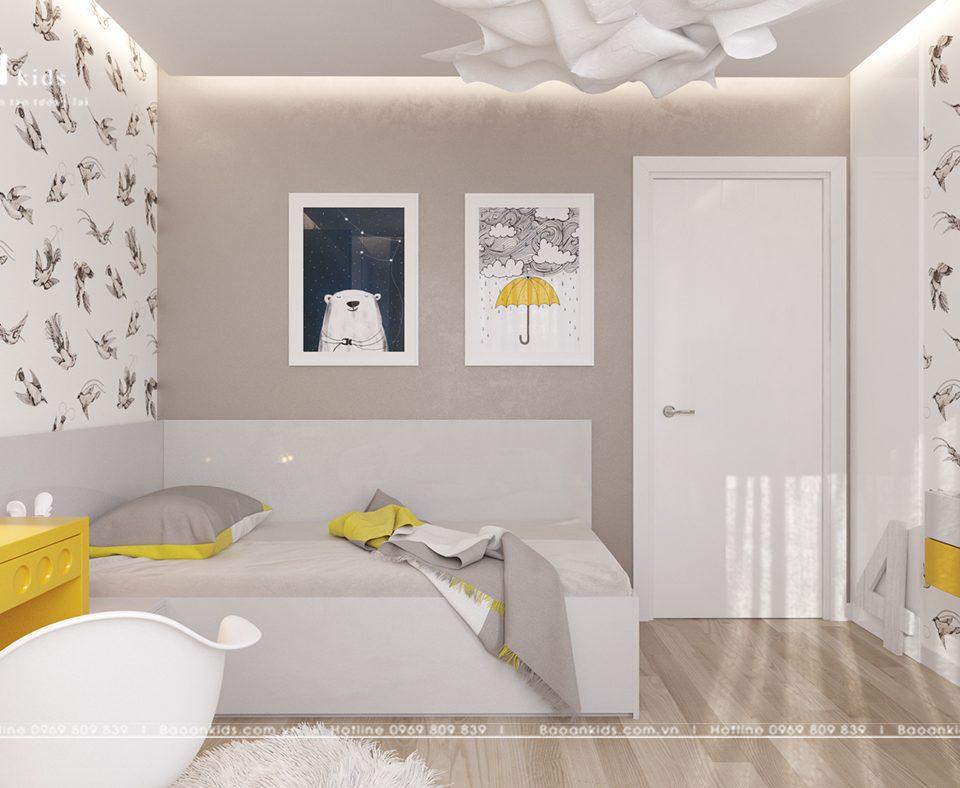 Mẫu thiết kế nội thất phòng con trai sáng tạo BT02