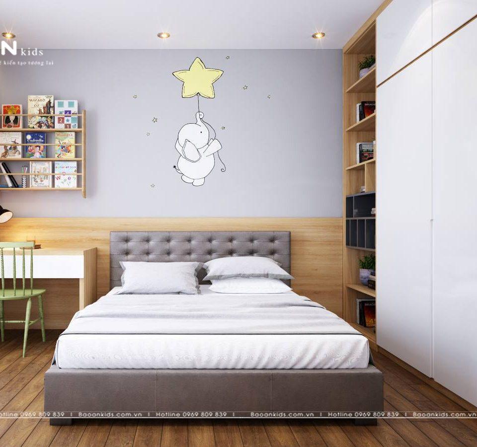 phòng ngủ cho bé trai đơn giản BT04