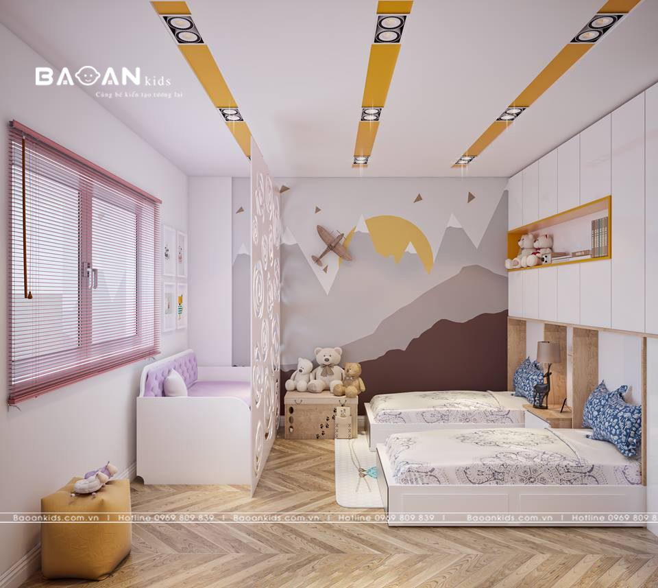 Phòng ngủ sáng tạo cho bé gái view 1