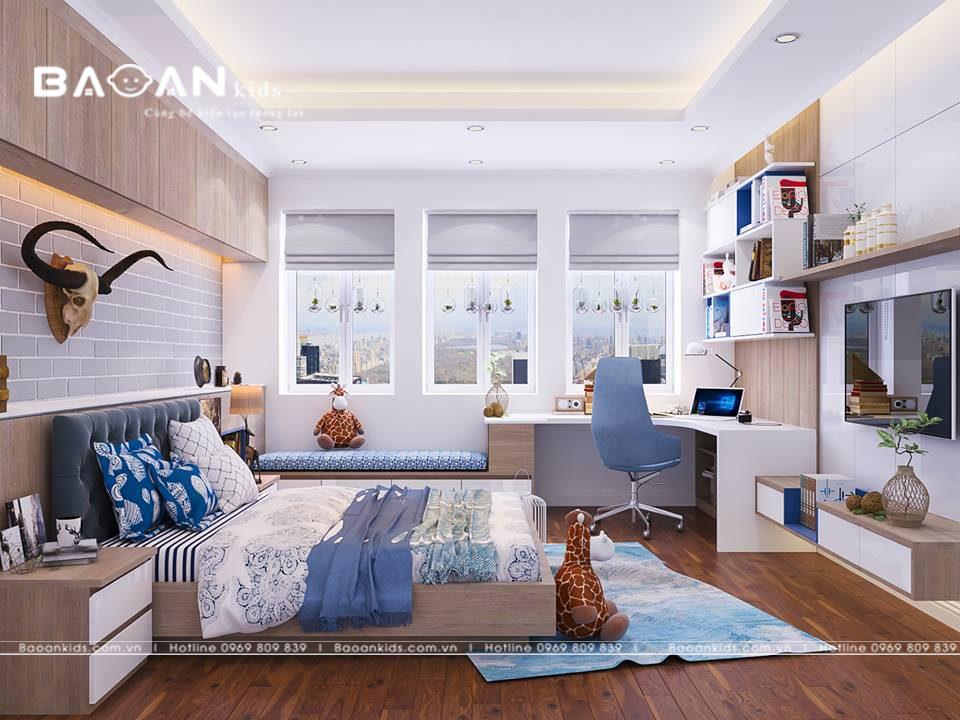 Thiết kế phòng ngủ bé trai bt01 view3