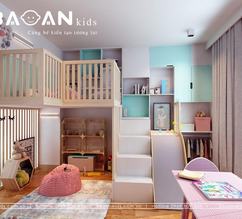 TK giường tầng Phòng ngủ bé gái view 3