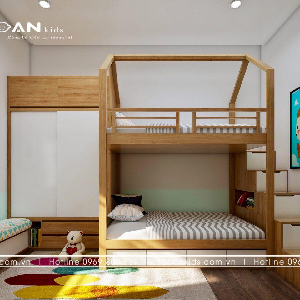 Giường tầng trong phòng ngủ bé gái view 4