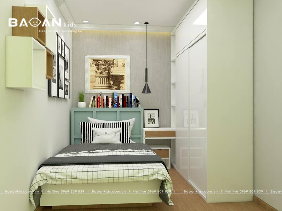 phòng ngủ màu xanh cho bé trai bt08 img2