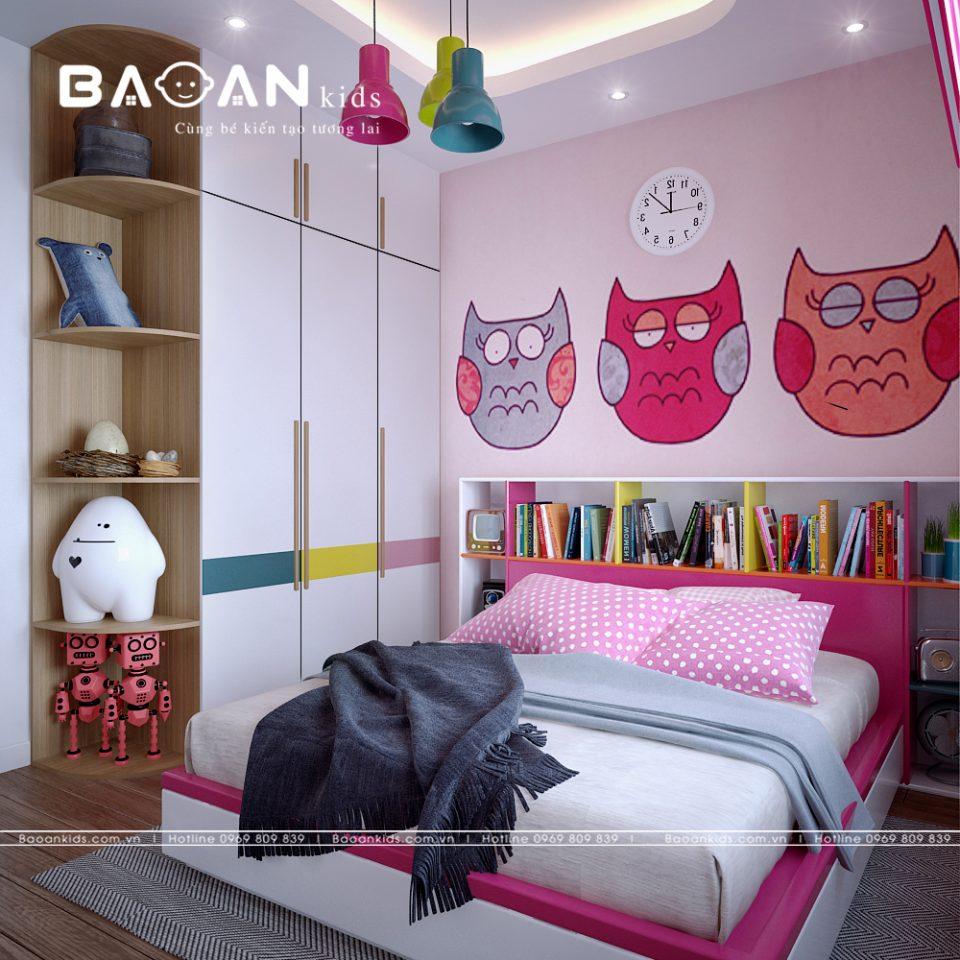 Mẫu Phòng ngủ con gái sáng tạo img3