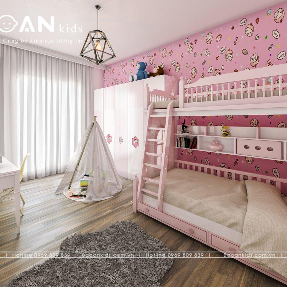 Giường tầng phòng bé gái view 1