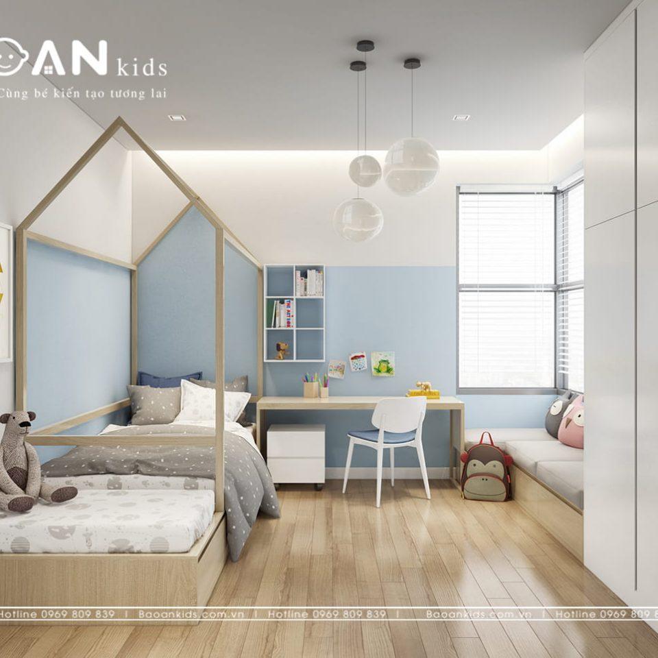 phòng ngủ bé trai đơn giản bt14