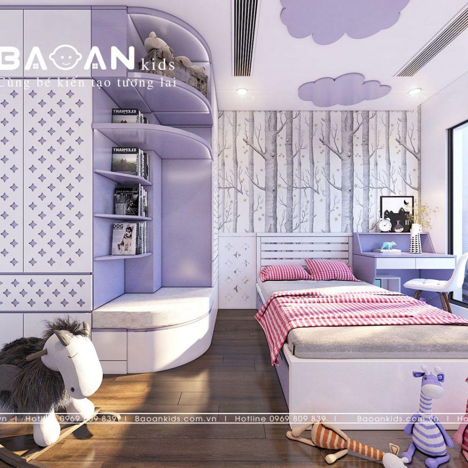 Phòng ngủ đơn giản cho con gái view 3