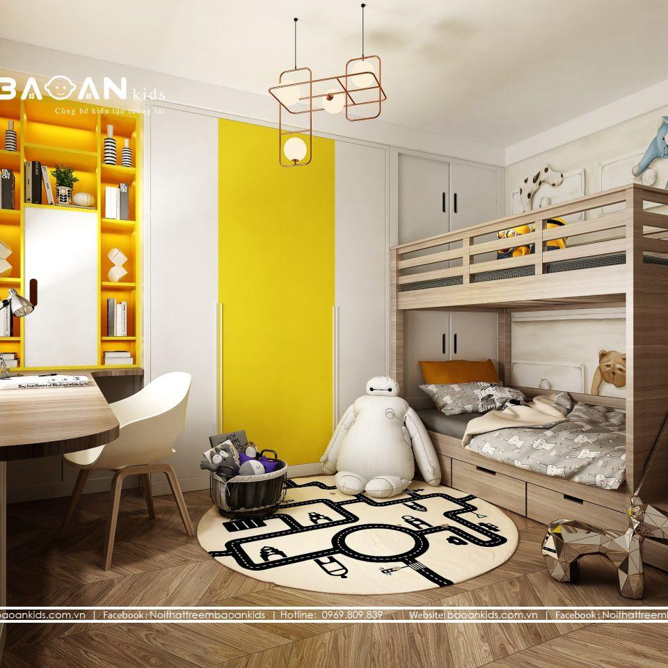 Phòng ngủ con trai diện tích nhỏ - BT27