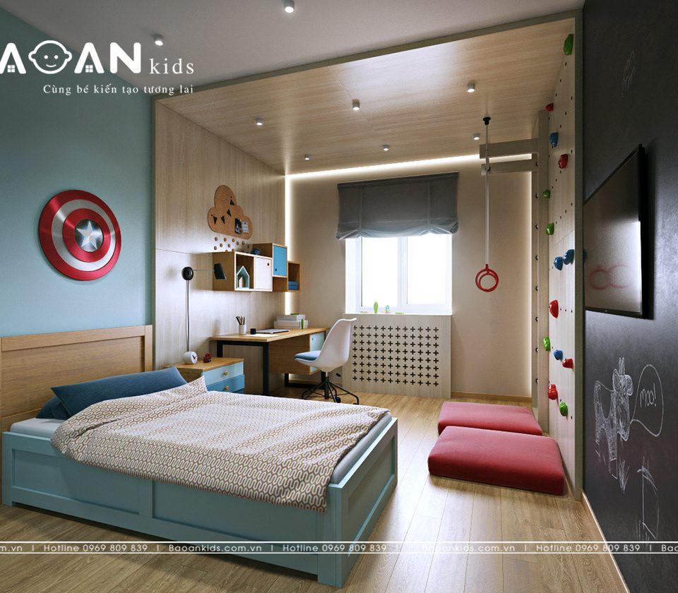 Phòng ngủ đẹp màu gỗ bt29
