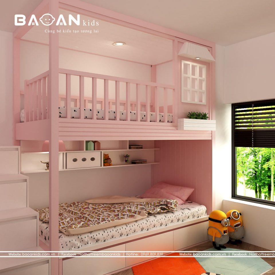 GT30 giường tầng bé gái view 2