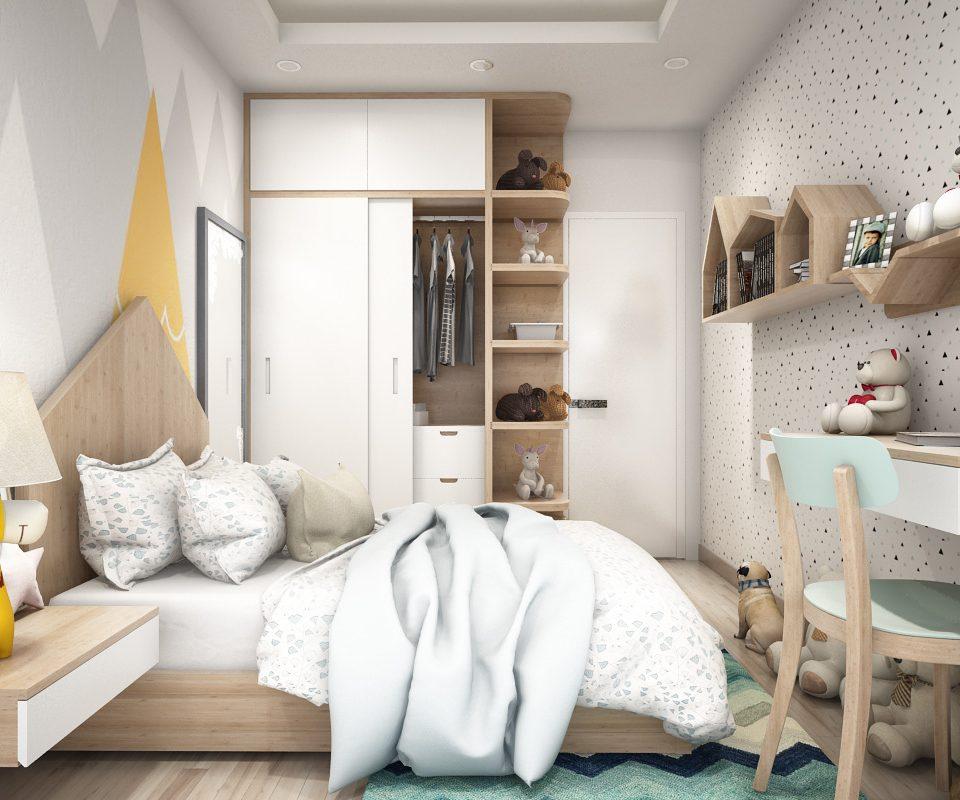 BG29 diện tích phòng ngủ trẻ em cực hẹp view 2