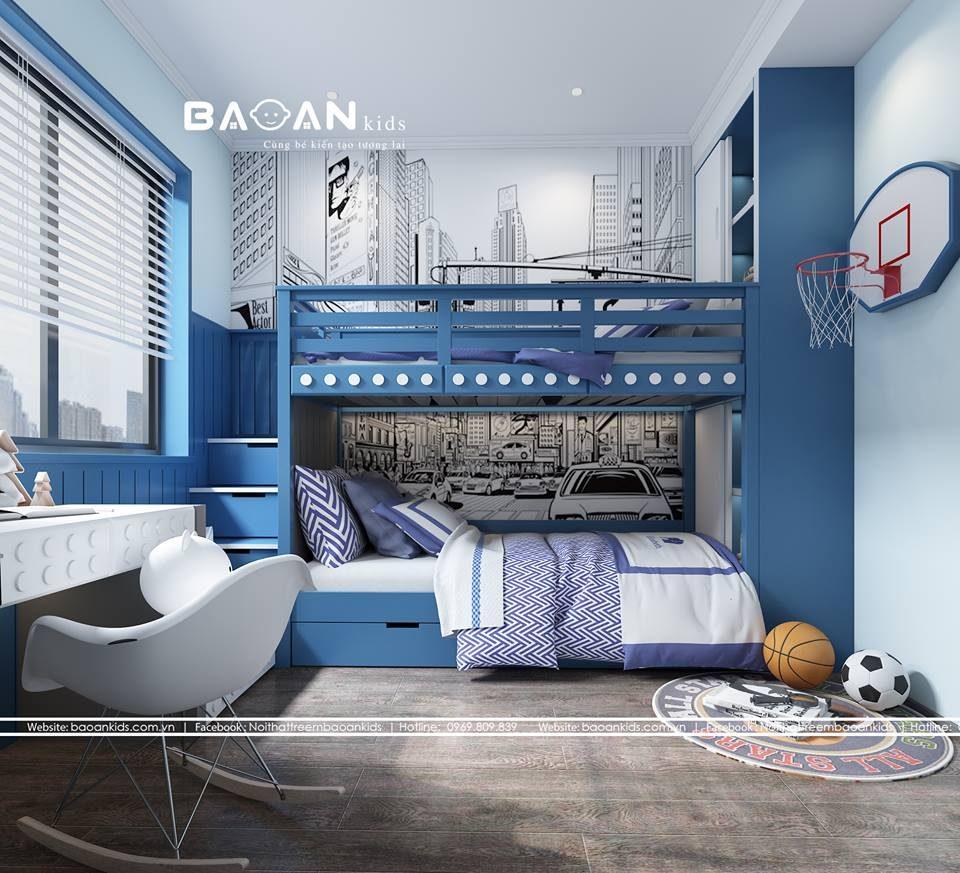 GT35 giường tầng cho bé trai