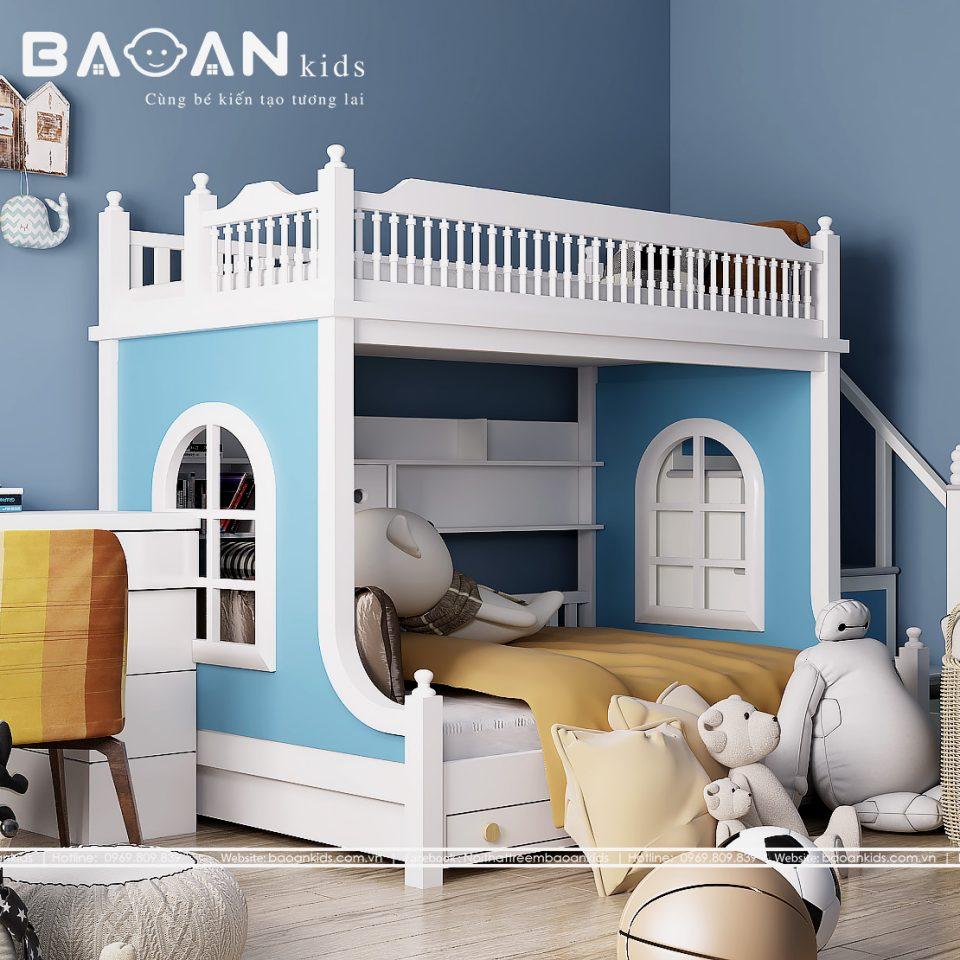 mẫu giường tầng cho bé trai GT36 view 1