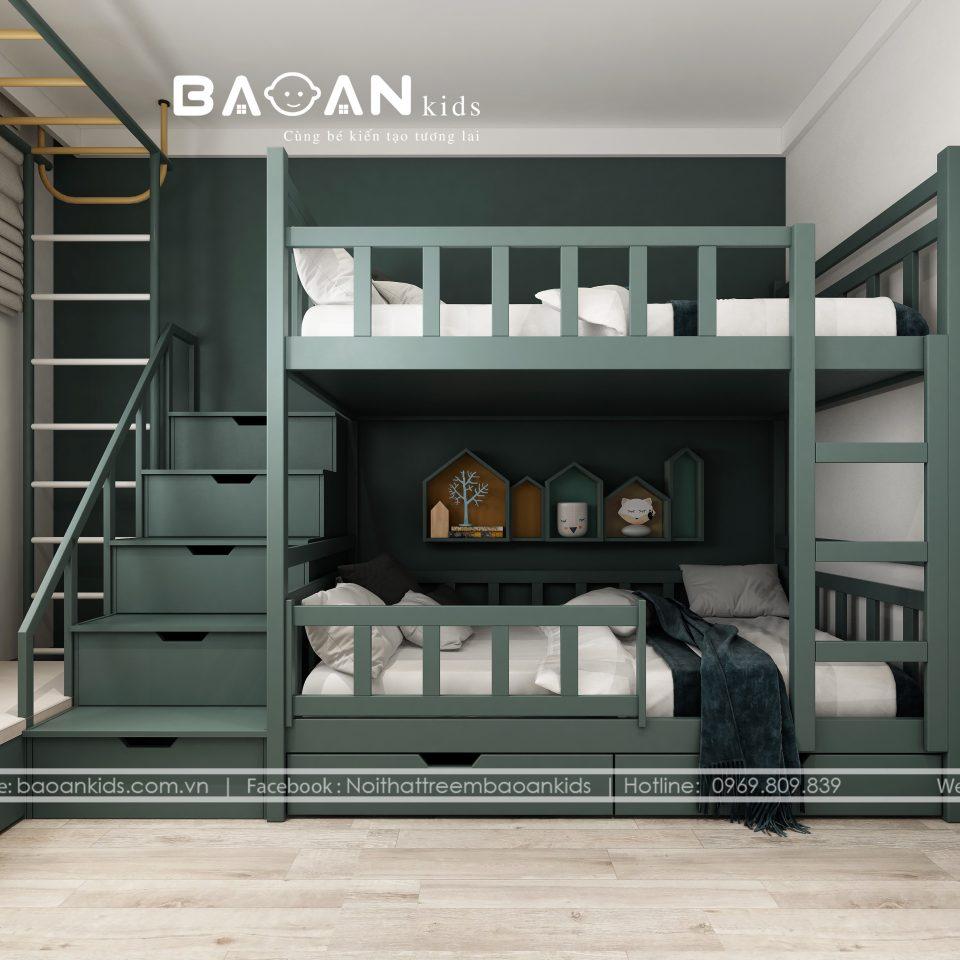 GT39 Thiết kế giường tầng bé trai