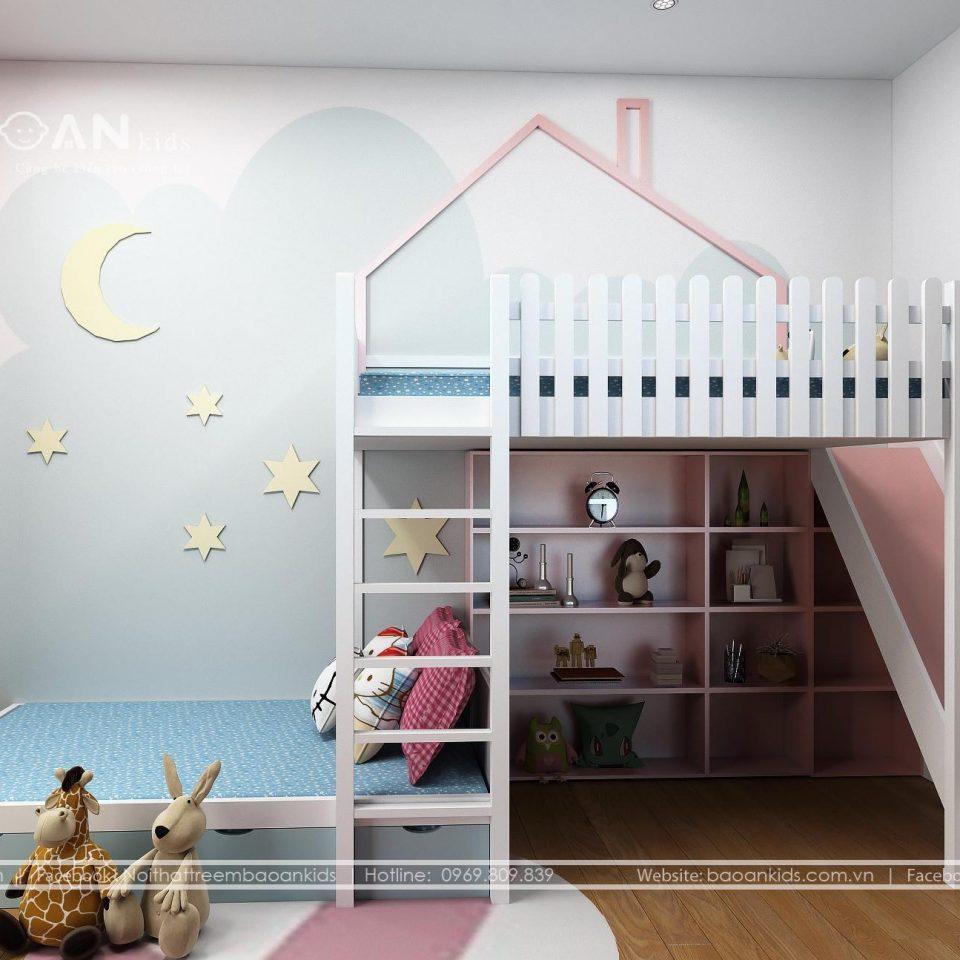 GT50 Mẫu giường tầng trẻ em