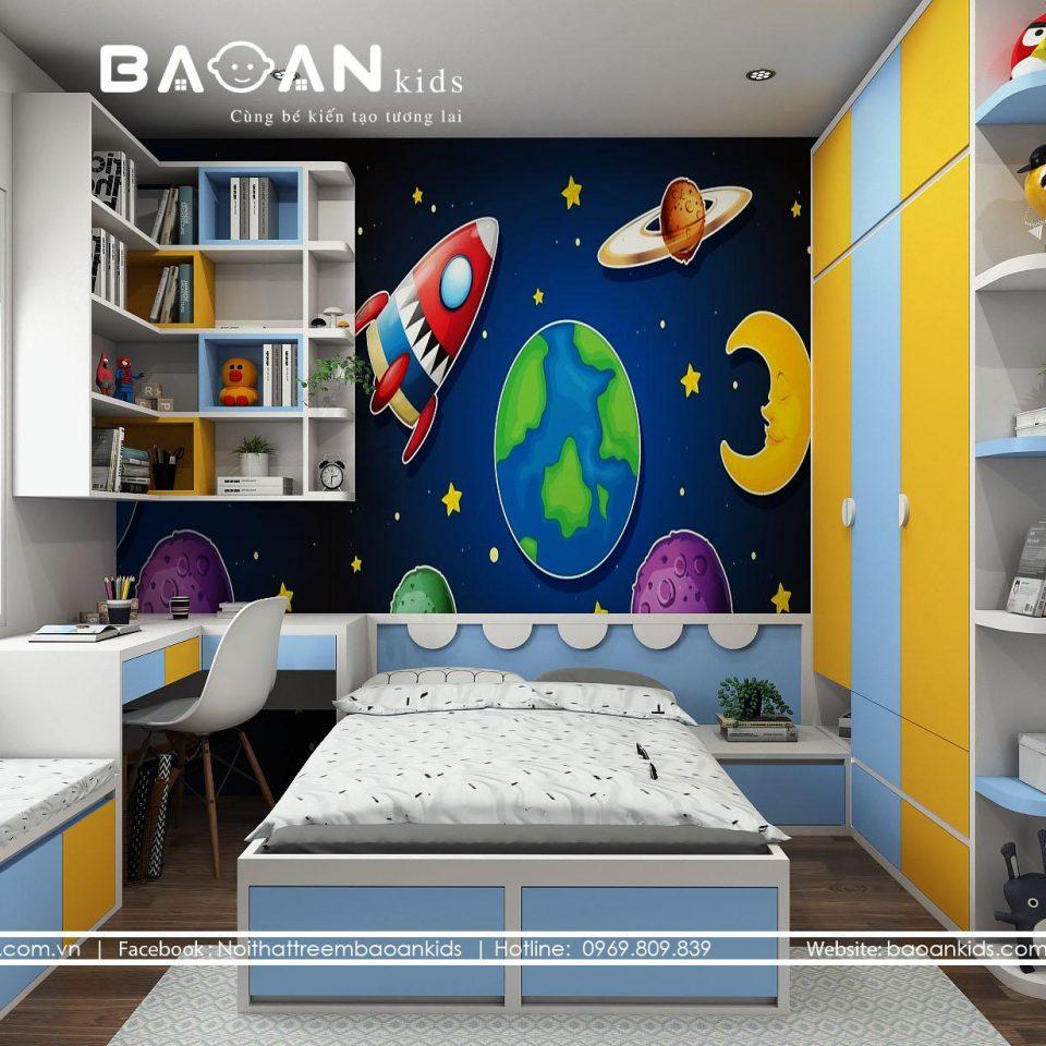 BT38 Mẫu phòng ngủ bé trai đẹp view 1