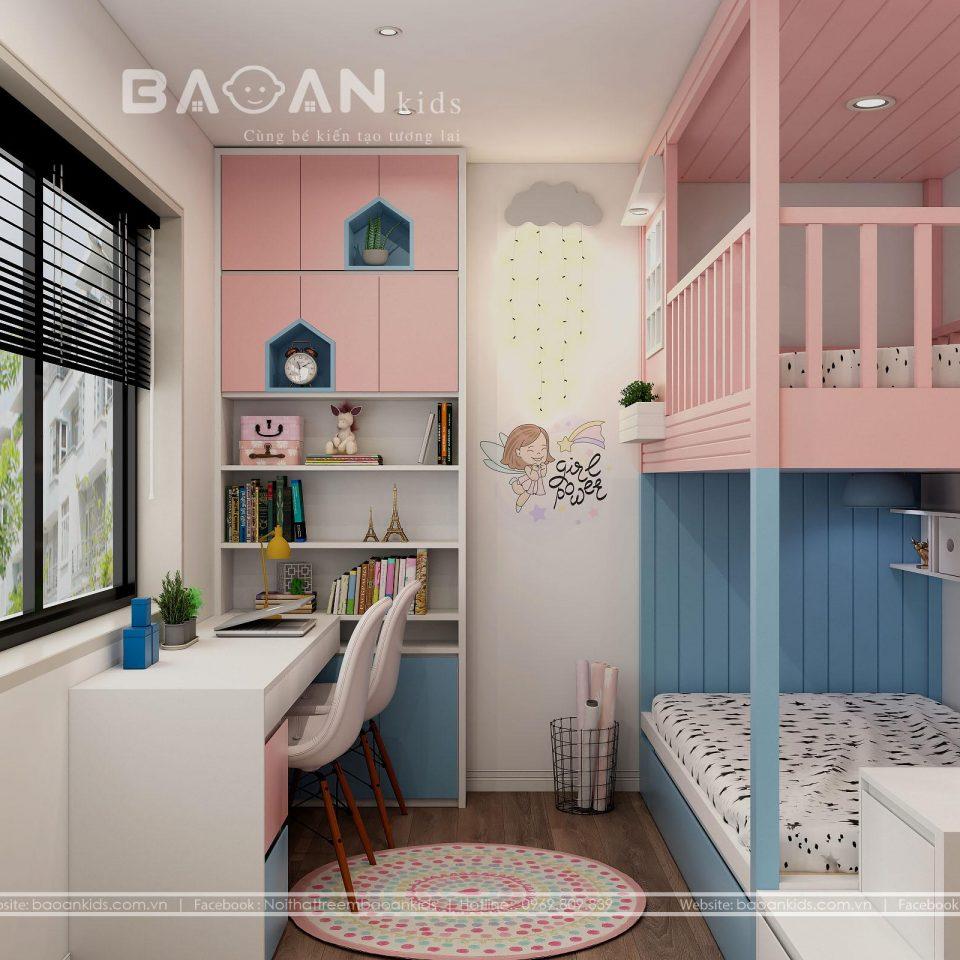 BG31 Mẫu phòng ngủ con gái đẹp nhất view 2