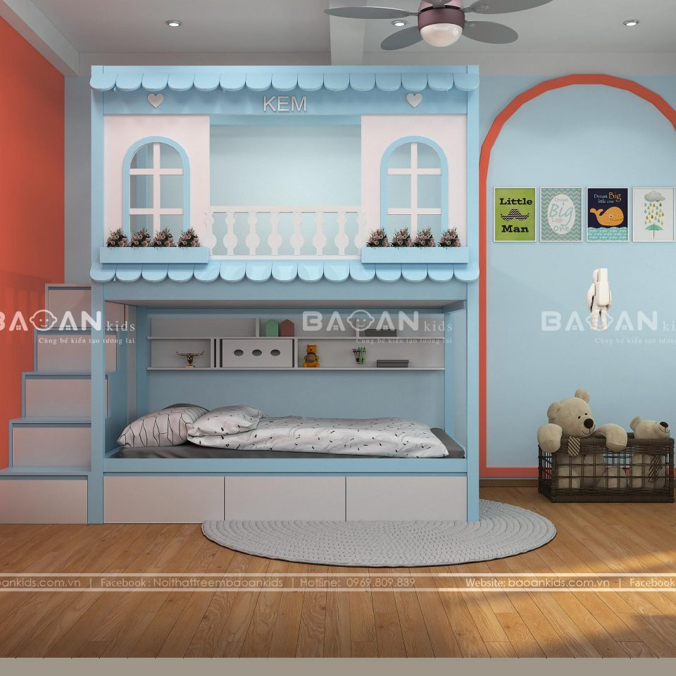 giường 2 tầng ngôi nhà view 1