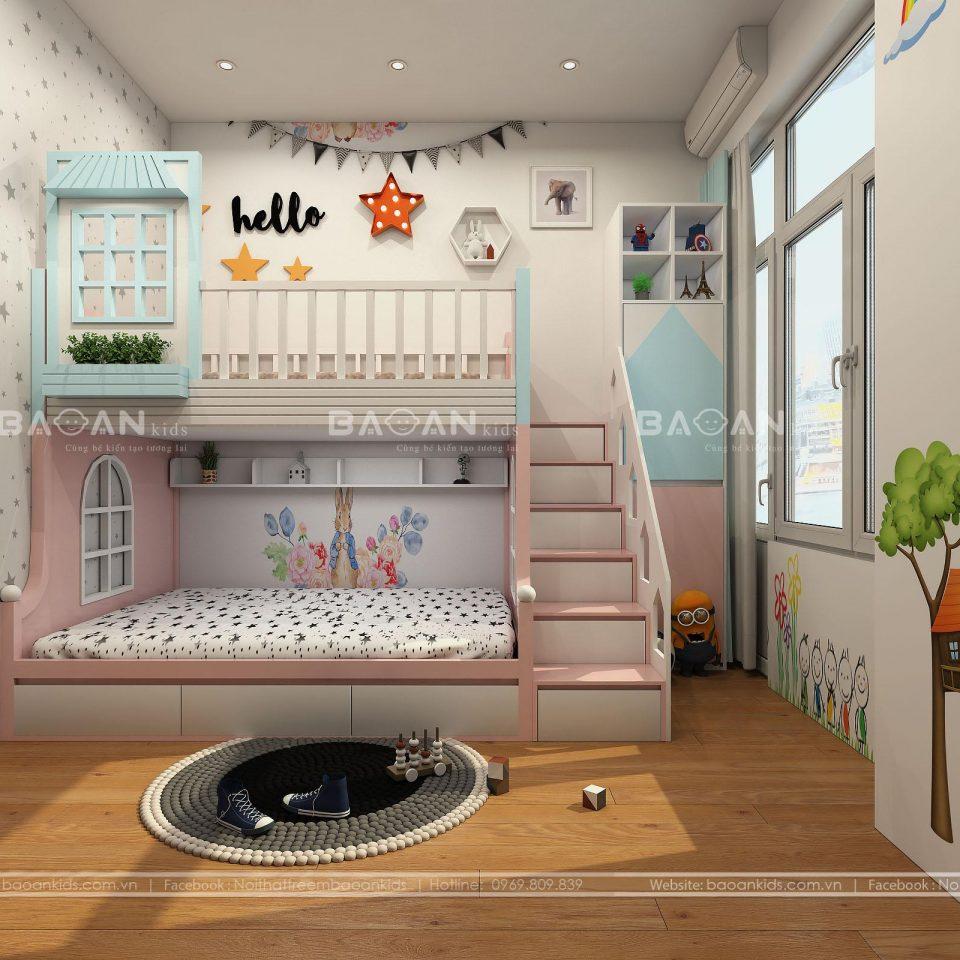 GT55 Mẫu giường tầng đẹp nhất cho bé view 1
